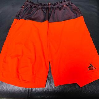 アディダス(adidas)のadidas アディダス ハーフパンツ オレンジ(ショートパンツ)