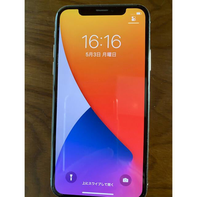 iPhone(アイフォーン)の【美品】iPhoneX 64GB シルバー SIMロック解除済み スマホ/家電/カメラのスマートフォン/携帯電話(スマートフォン本体)の商品写真