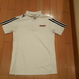アディダス(adidas)のコナミKONAMI運動塾白アディダス半袖ポロシャツ160サイズ(ウェア)