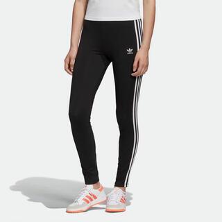 アディダス(adidas)のadidas スリーストライプレギンス レディースM トレフォイル(レギンス/スパッツ)