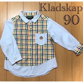 kladskap - クレードスコープ 90cm ロボットチェックシャツ ブラウス
