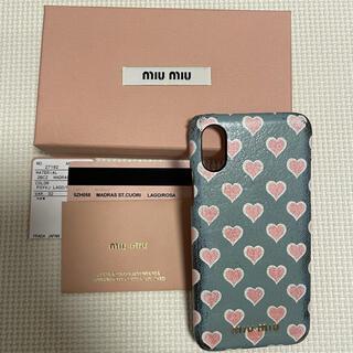 miumiu - miumiu (ミュウミュウ) ハート柄iPhoneXSケース