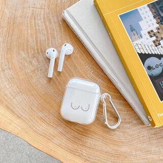 アップル(Apple)のAirpods  ケース 新品未使用 こじはる シリコン 韓国 ニュアンス(ヘッドフォン/イヤフォン)