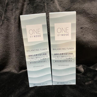 コーセー(KOSE)の新品 2本 KOSE ONE BY KOSE バランシング チューナー 化粧水(化粧水/ローション)