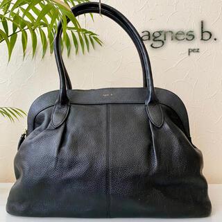 agnes b. - 極美品 アニエスベー 38,500円 大容量 レザートートバッグ