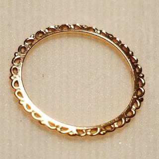 ノジェス(NOJESS)の《ノジェス》《美品》レースリング 3号 K10 フラワー ピンキーリング(リング(指輪))