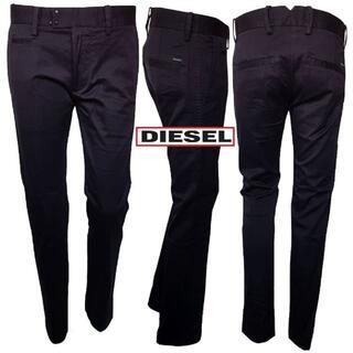 ディーゼル(DIESEL)の新品 DIESEL CHI-TIGHT-E パンツ 黒 32-30(チノパン)