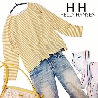 ヘリーハンセン(HELLY HANSEN)のヘリーハンセン ボーダー トップス ロンT S マスタードイエロー レディース(Tシャツ(長袖/七分))