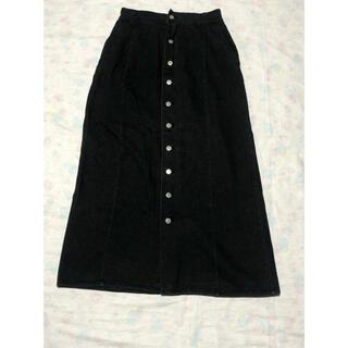 フーワ デニムロングスカート ブラック(ロングスカート)