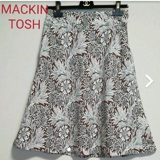 マッキントッシュ(MACKINTOSH)のMACKINTOSH LONDON お花のフレアースカート(ひざ丈スカート)