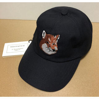 MAISON KITSUNE' - メゾンキツネ LARGE FOX HEAD EMBROIDERY 6P CAP