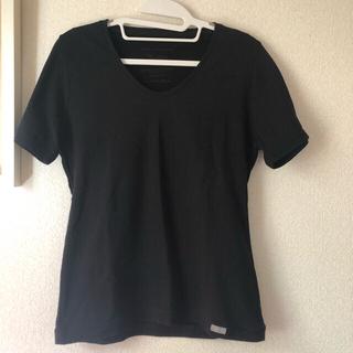 ヤヌーク(YANUK)の新品未使用 タグ付き YANUK 半袖 Tシャツ ブラック Mサイズ(Tシャツ(半袖/袖なし))