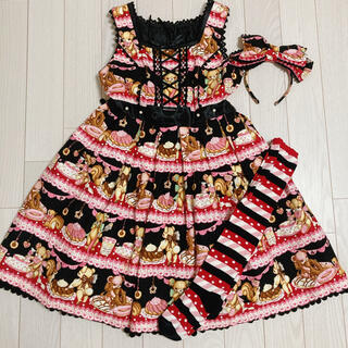 Angelic Pretty - Angelic Pretty Little Bears Cafe jsk セット