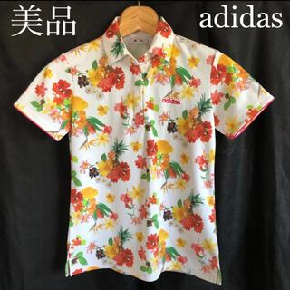 adidas - 《美品》アディダス ポロシャツ 花柄 フラワー adidas 半袖 レディース