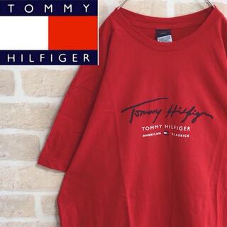 TOMMY HILFIGER - TOMMY HILFIGER トミーヒルフィガー Tシャツ 半袖 赤