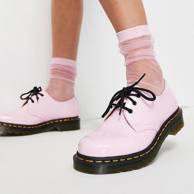 Dr.Martens(ドクターマーチン)の♡新品♡未使用♡ドクターマーチン♡パテント♡ピンク レディースの靴/シューズ(ローファー/革靴)の商品写真