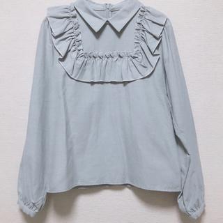 merry jenny - 配色メローオックスフリルシャツ