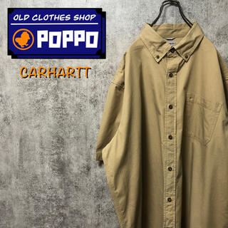 carhartt - カーハート☆ワンポイント刺繍ロゴポケットロゴタグ半袖ビッグワークシャツ