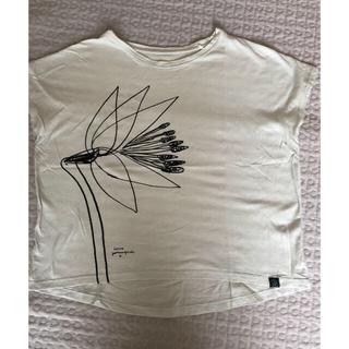 イデー(IDEE)のIchiro Yamaguchi   山口一郎 hanaの絵のカットソー  M(Tシャツ(半袖/袖なし))
