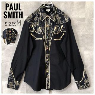 Paul Smith - 【極美品】ポールスミス ナポレオンシャツ ペイズリー 花柄 スナップボタン