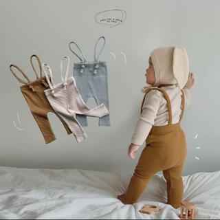 韓国子供服 サスペンダー ベビー レギンス(靴下/タイツ)