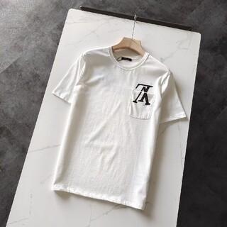 ルイヴィトン(LOUIS VUITTON)のポケットプリント半袖Tシャツ(Tシャツ/カットソー(半袖/袖なし))