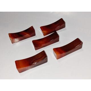 5個セット 赤瑪瑙の箸置き(その他)