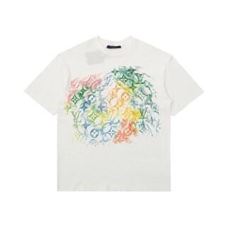 ルイヴィトン(LOUIS VUITTON)の21SSカラークレヨングラフィティペイントプリント半袖Tシャツ(Tシャツ/カットソー(半袖/袖なし))