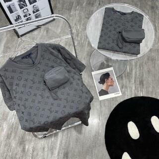 ルイヴィトン(LOUIS VUITTON)のベルクロバッグフルプリント半袖(Tシャツ/カットソー(半袖/袖なし))