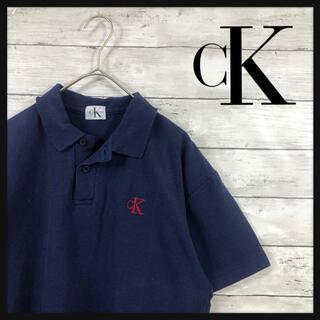 シーケーカルバンクライン(ck Calvin Klein)の激レア 美品 カンバンクライン ワンポイント刺繍 綺麗めファッションにオススメ(Tシャツ/カットソー(半袖/袖なし))