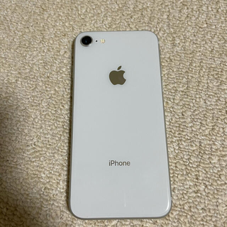 Apple - iPhone 8 Silver 64 GB Softbank  アイフェイス付き