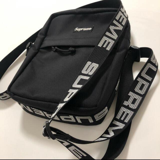 Supreme(シュプリーム)の確実正規品  supreme シュプリーム  18ss ショルダーバッグ  黒 メンズのバッグ(ショルダーバッグ)の商品写真