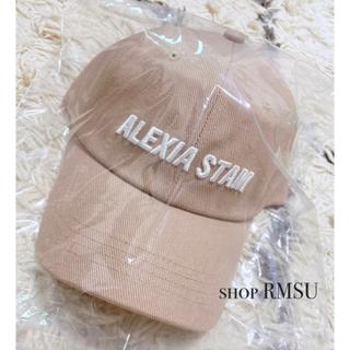 アリシアスタン(ALEXIA STAM)の【ALEXIASTAM】Embroidery Logo Cap ベージュ(キャップ)