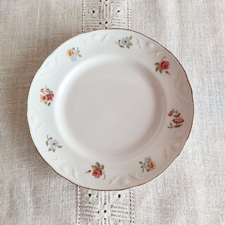 アラビア(ARABIA)の*old arabia ❀ decorated rim  plate (a)(食器)