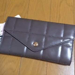 シマムラ(しまむら)の新品 mumu 長財布 ブロックキルト 濃茶 ブラウン しまむら 財布 チョコ(財布)
