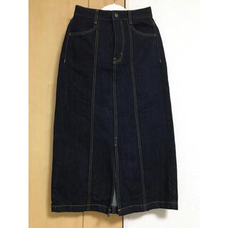 ジーユー(GU)のGU デニムロングスカート(ロングスカート)