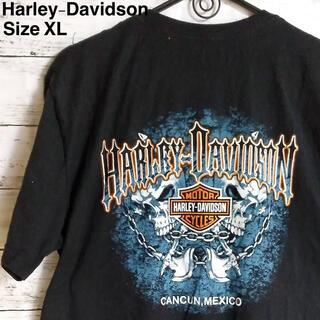 Harley Davidson - Harley-Davidson  ブラック Tシャツ ビッグプリント メキシコ製