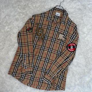 バーバリー(BURBERRY)のバーバリー ノバチェック ワッペン  ホース刺繍 シャツ(シャツ)