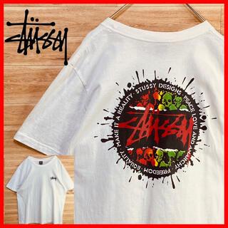 STUSSY - 【美品】stussyステューシーtシャツ半袖XL白 スカル 両面プリント