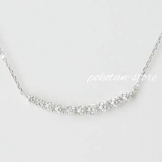 4℃ - 美品【4℃】PT995    ダイヤモンド 0.324ct リュール ネックレス