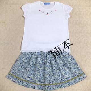 familiar - familiar    リバティスカート & Tシャツ size 110cm