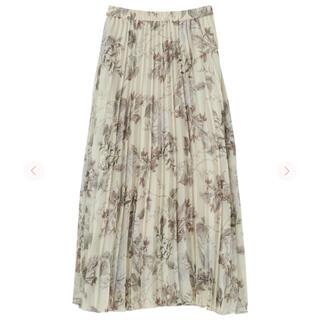COCO DEAL - cocodeal ボタニカルフラワーシアープリーツスカート