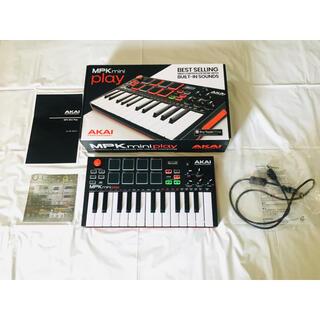 【良品★人気】AKAI MPK Mini Play スタンドアローン キーボード(MIDIコントローラー)