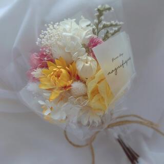 イエロー系 ドライフラワー 花束 ブーケ スワッグ ギフト(ドライフラワー)