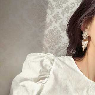 ZARA - #943 import pierce : BIJOU pearls gold