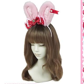 Angelic Pretty - Little Strawberryリリカルバニーカチューシャ ピンク