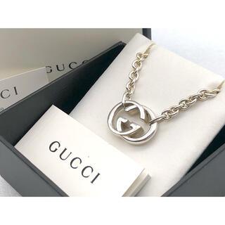 Gucci - 超美品 GUCCI インターロッキングG ネックレス GGロゴ シルバー925