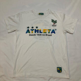 アスレタ(ATHLETA)のATHLETA メンズ 半袖 Tシャツ サッカー フットサル ホワイト Mサイズ(Tシャツ/カットソー(半袖/袖なし))