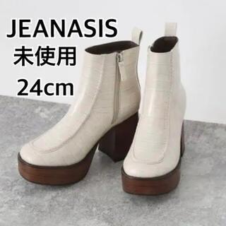 JEANASIS - 未使用★ジーナシス ブーツ クロコ型押し 厚底ブーツ