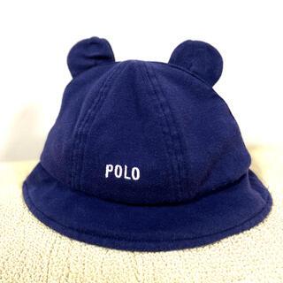 POLO RALPH LAUREN - POLO くま耳 帽子 ハット48cm ネイビー
